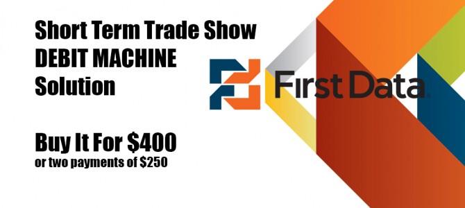 buy short term trade show debit machine toronto