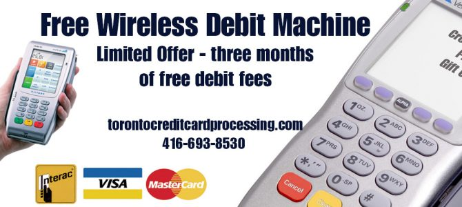 Three Months Free Debit Fees for our FREE debit machine