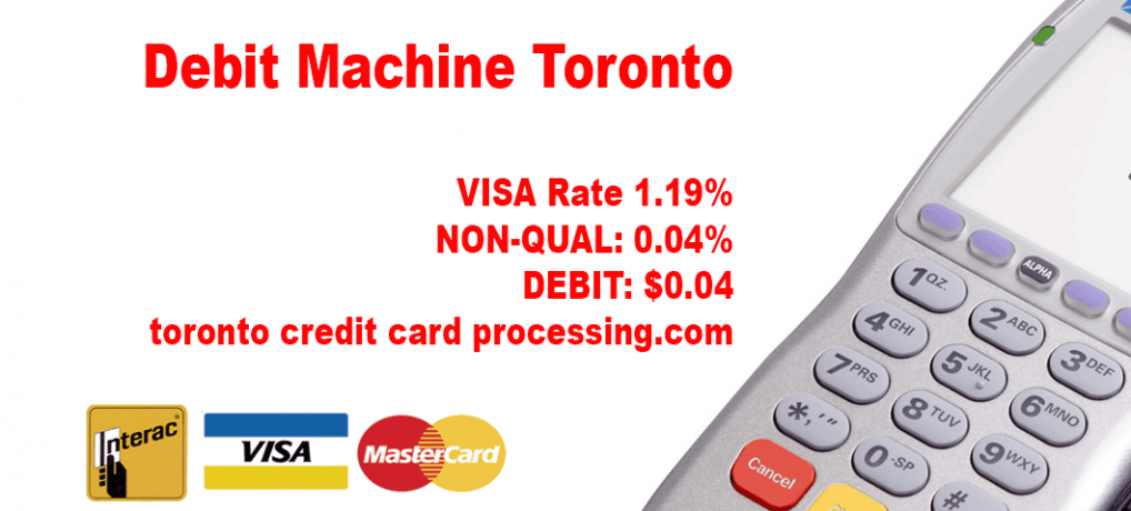 Debit Machine Toronto Rate 1.19% Save on fees