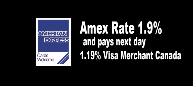 Toronto credit card processing amex rate 19 and pays next day 119 visa merchant canada colourmoves Gallery